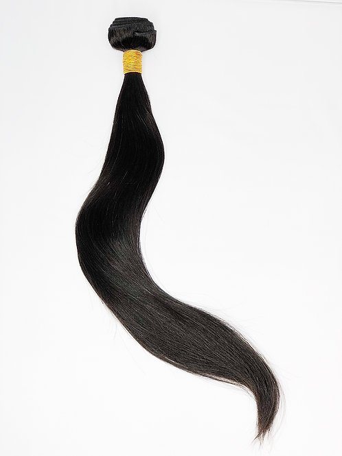 Indian Black Straight  weft 18""