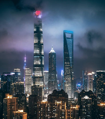 Shanghai tower at night time