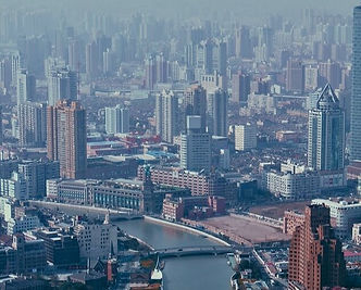 chinese city view from the sky