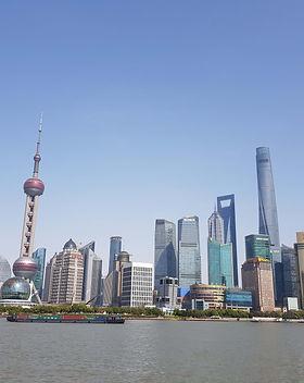 A daytime image of the Shanghai skyline