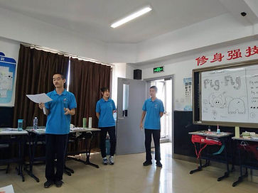 students learning at summer camp