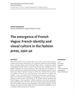 Article French Vogue, 1920-40