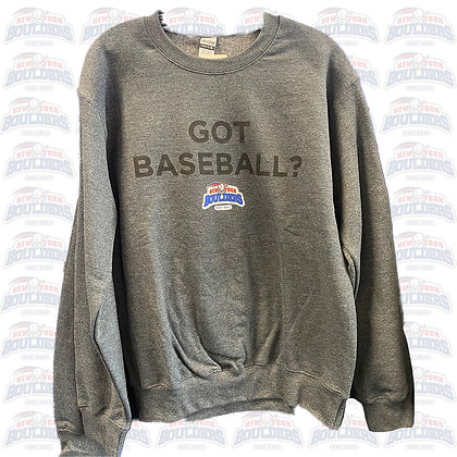 Gray 'NY Boulders - Got Baseball?' Crewneck