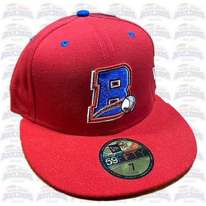 Red 'B' Cap (with blue button)