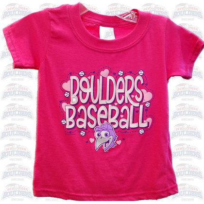 Hot Pink 'Boulders Baseball' Toddler Tee