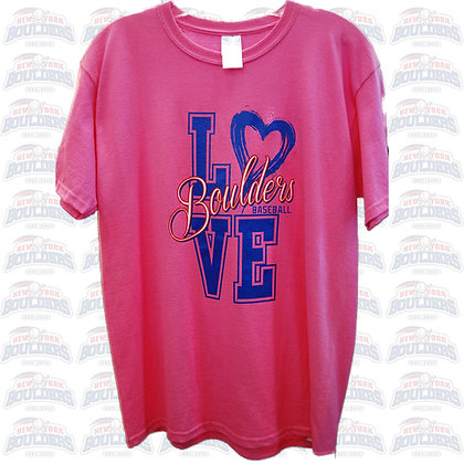 Hot Pink 'Love Boulders' Youth Tee