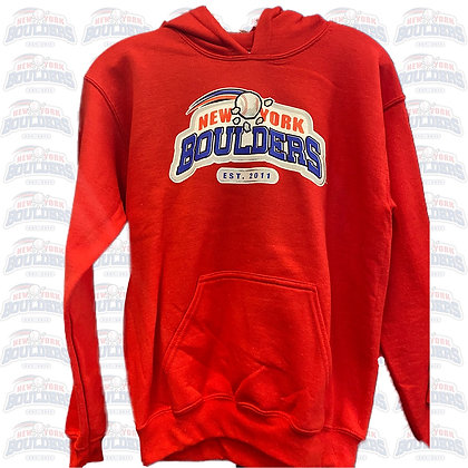Red NY Boulders Hoodie