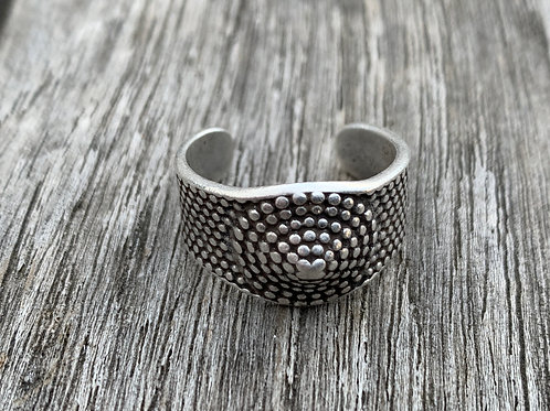 Buddha Pewter Ring