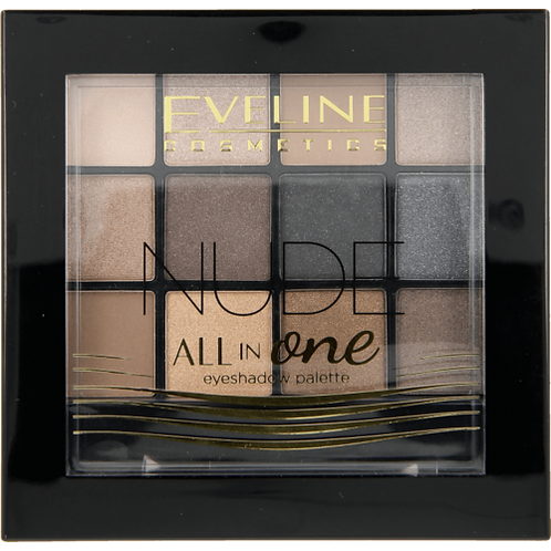 2pcs Eveline EYESHADOW PALETTE ALL IN ONE 12 COLORS NUDE
