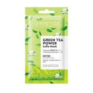 18PCS  GREEN TEA LUFFA  POWER DETOXIFYING FACE MASK 8G