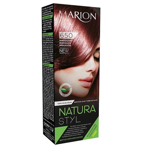 6PCS HAIR COLOR CREAM NATURA STYL_MAHAGANY