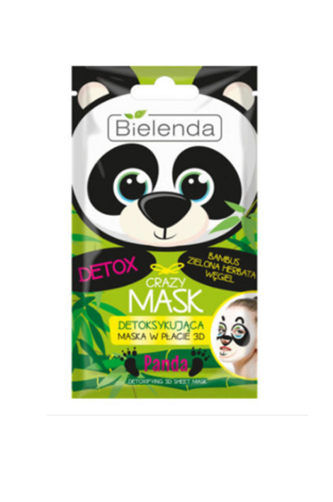 12 PCS CRAZY MASK Detoxifying 3D sheet mask PANDA 1pcs