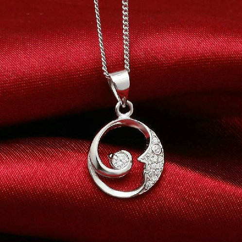 S925 Sterling Silver Moon Pendant £6.00