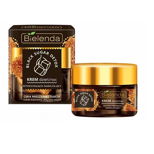 6pcs BLACK SUGAR DETOX detoxifying and moisturizing face cream day/night