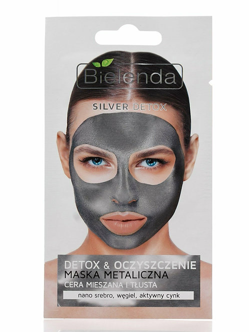 18 PCS SILVER DETOX  detoxifying face mask for mixed and oily skin 8 g