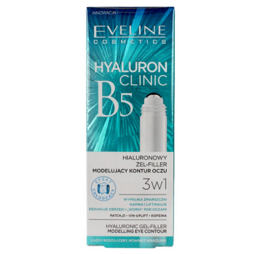 10pcs Eveline HYALURON CLINIC ROLL-ON EYE GEL