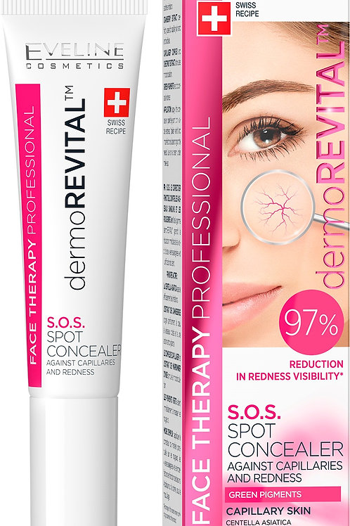 8pcs  FACE THERAPY DERMO REVITAL S.O.S. SPOT CONCEALER AGAINST CAPILLARIES