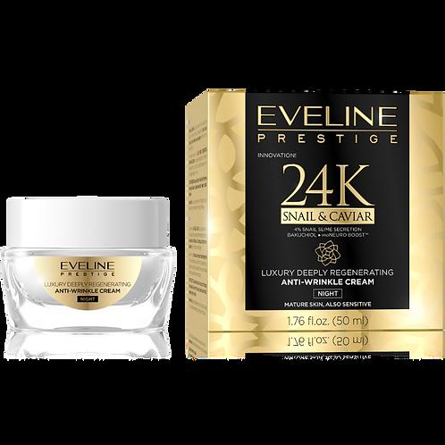 6pcs PRESTIGE 24K Snail & Caviar Deep Regenerating Anti-Wrinkle Night Cream