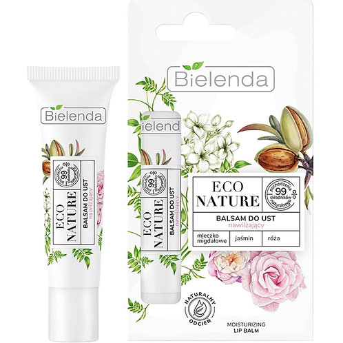 5PCS Eco Nature Almond Milk + Jasmine + Rose Moisturising Lip Balm 10g