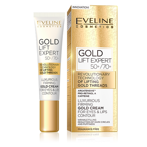 6PCS LUXURIOUS FIRMING GOLD CREAM FOR EYES & LIPS CONTOUR 50+ / 70+