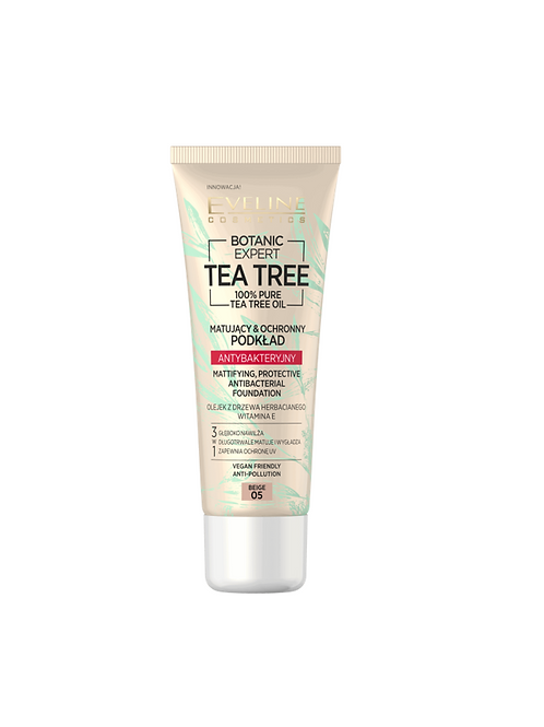 6PCS  BOTANIC EXPERT TEA TREE ANTIBACTERIAL FOUNDATION 05 BEIGE 30ML