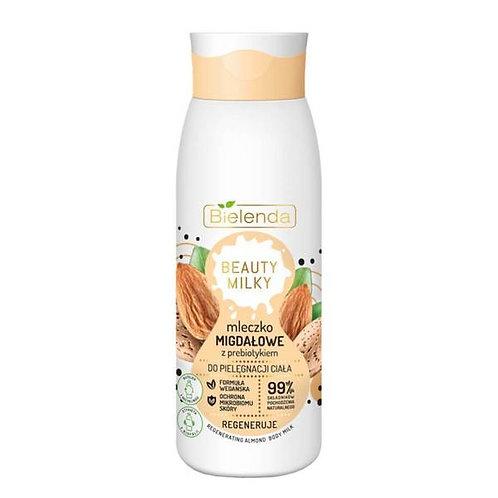 4PCS BEAUTY MILKY Almond body milk WITH A PREBIOTIC 99% 400 ml