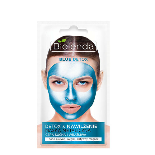 6pcs Blue Detox Metallic Wash Off Face Mask 8g
