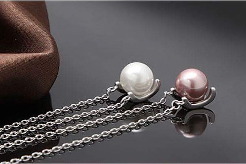 S925 Sterling Silver pendant necklace with shell pearl