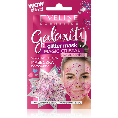 12pcs  Galaxity Glitter Mask - Magic Cristal