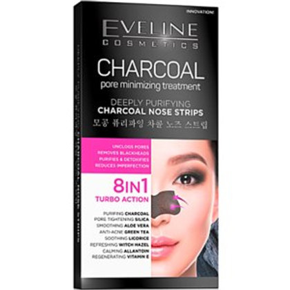 9PCS DEEPLY PURIFYING CHARCOAL NOSE STRIPS