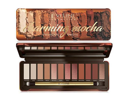 6pcs EYESHADOW PALETTE 12 COLORS CHARMING MOCHA