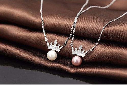 925 STERLING SILVER PENDANT NECKLACE WITH SHELL PEARL