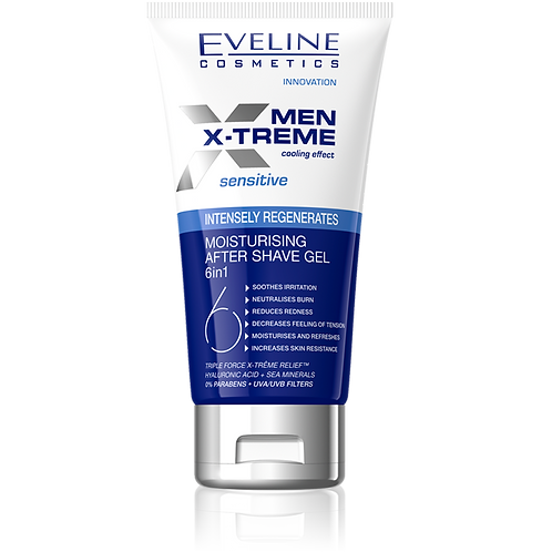MEN XTREME MOISTURISING AFTER SHAVE 6IN1 SENSITIVE 150ML- £1.48 PER UNIT