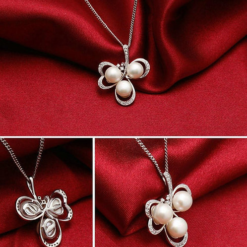 925 STERLING SILVER NECKLACE WITH NATURAL PEARL