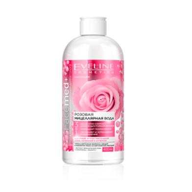 6PCS Pink micellar  rose water 3in1 Facemed 400ml