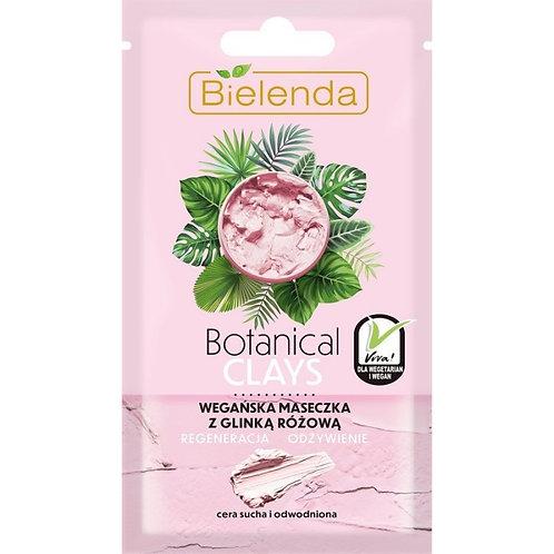 18PCS BOTANICAL CLAYS Vegan MASK with pink clay 8 g