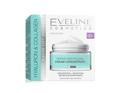 5PCS HYALURON&COLLAGEN DAY AND NIGHT CREAM 50+ 50ML