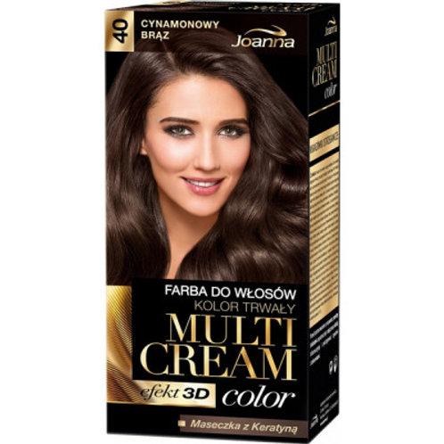 6pcs Multi Cream Hair-dye No. 40 Cinnamon Brown