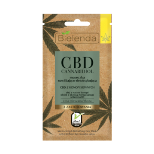 18 pcs CBD Cannabidiol facemask moiszing detoxifying with CBD mixed and oily s