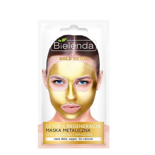 18pcs Gold  Detox Metallic Wash Off Face Mask 8g