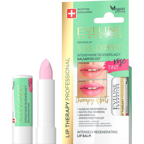12PCS Lip Therapy SOS Expert Intensively Regenerating Lip Balm ROSE