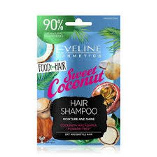 6PCS Food For Hair Sweet Coconut Care Hair Shampoo 20ml