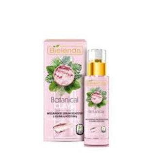 6pcs Botanical Clays Vegan Face Serum Booster with Pink Clay Dry Skin 30ml