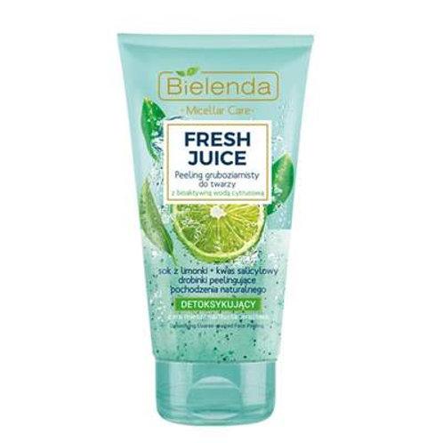6pcs FRESH JUICE - Detoxifying coarse-grained scrub lime 150 g