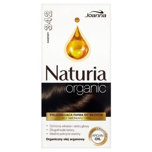 6pcs Joanna Naturia ORGANIC HAIR DYE COFFE 342