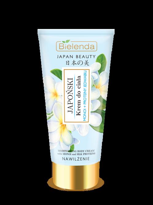 5PCS JAPAN BEAUTY Japanese body cream Monoi + Silk proteins 200ml