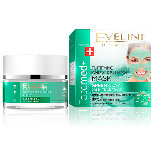 5pcs PURIFYING AND SMOOTHING MASK - GREEN CLAY