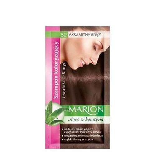 10PCS HAIR COLOURING SHAMPOO WITH KERATIN & ALOE_VELVET BROWN