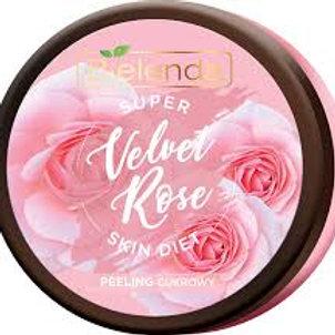6pcs SUPER SKIN DIET Velvet Rose regenerating body sugar scrub Rose 400 ml