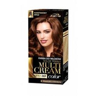 6PCS  Multi Cream Color Dye Chestnut Brown /38/